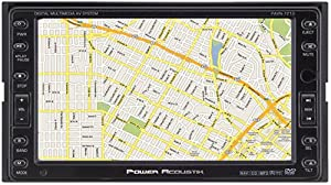 Power Acoustik PAVN-7210 6.5-Inch Touch Screen In-Dash Navigation System with AM/FM Radio and DVD Player