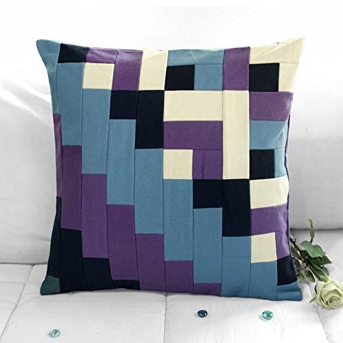 [Zwei Straßen] handgemachte dekorative Kissen einzigartige Gitterkissen 48cm -