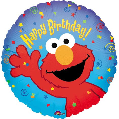 "Anagram International Elmo Birthday Foil Balloon Pack, 18"", Multicolor"