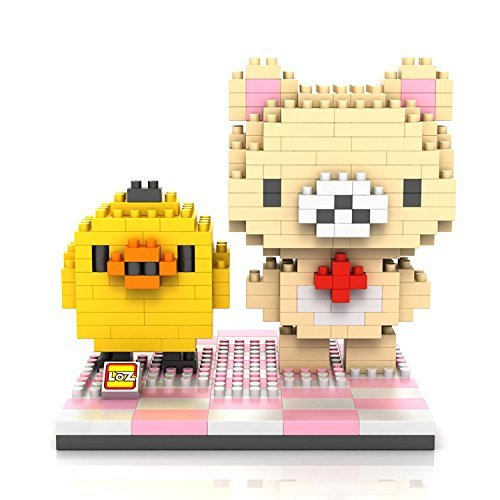 GRHOSE LOZ Diamond Blocks Nanoblock Milk White RilakKuma And Kiiroitori Educational Toy 310pcs - 1