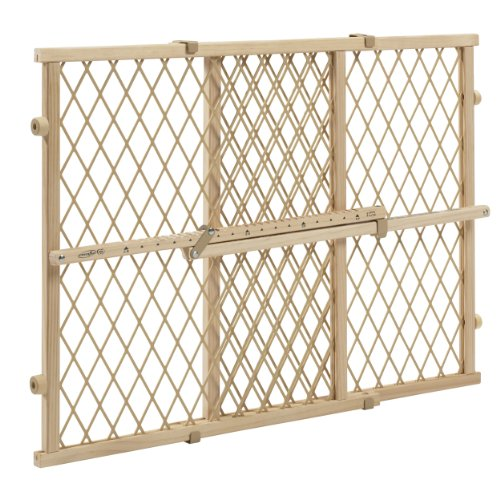 Evenflo Position and Lock Wood Gate, Tan