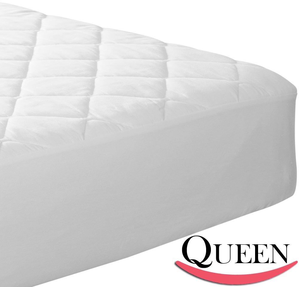 Fitted Quilted Queen Mattress Pad - Stretches up to 17 inches Deep! Mattress Pad Cover by Utopia Bedding