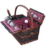 Chateau Medley Picnic Basket for 4 by Sutherland Baskets