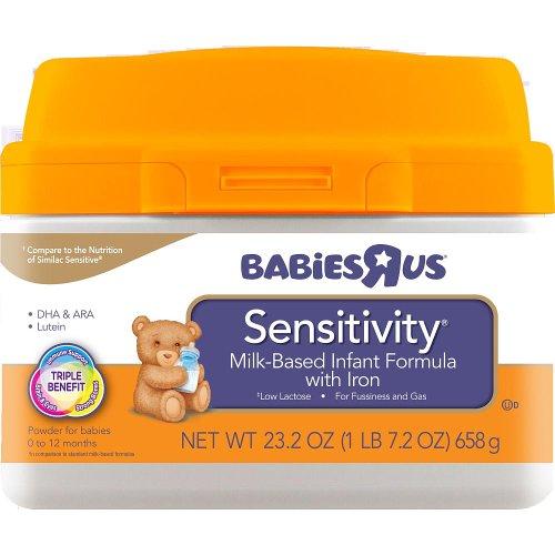 Babies R Us Sensitivity Infant Formula In Mess-Less Smartub - 23.2Oz front-61334
