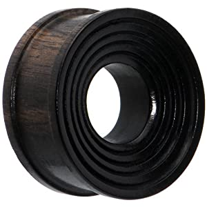 "1"" Organic Areng Ebony Wood Tunnel Plug"
