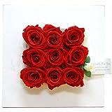 【壁掛け・置き型3WAY】スピード即日出荷&送料無料!バラのインテリアフレーム(レッド)/誕生日・記念日・お祝い・結婚祝い・出産祝い
