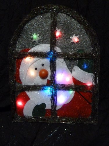 Christmas Concepts 30Cm Wicker Santa Plaque W/ Col Changing Led'S (Ra126)