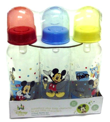 Disney Baby Mickey Mouse BPA Free 9 oz. Bottles 3 Pack