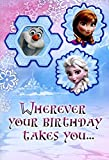 Greeting Card Birthday Disney Frozen Wherever Your Birthday Takes You... with Olaf