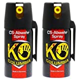 Familien Set: Original Columbia KO-CS Abwehrspray Verteidigungsspray - Made in Germany! 2x 40ml thumbnail