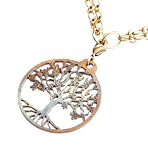 Tree of Life Iridescent Pendant Necklace on 18-36