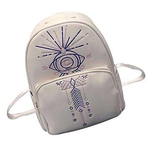 TELLW-Borsa da donna e cartella, borsa a tracolla, Daypacks Bianco bianco 28*12*33cm