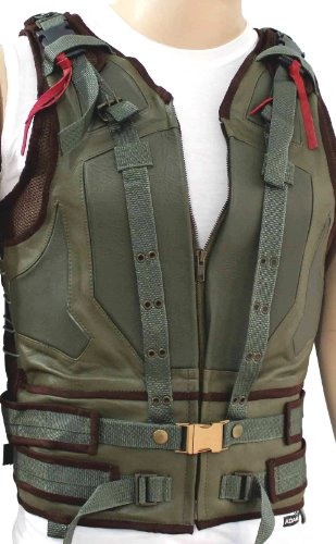 Tom Hardy Bane Vest - Dark Knight Rises Leather Vest - Real Leather