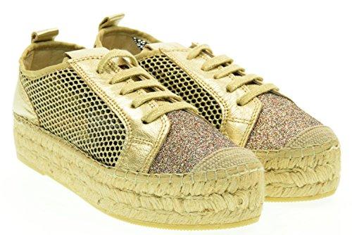 VIDORRETA donna sneakers con piattaforma 06400 glitter oro 40 Oro