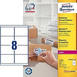 Avery Zweckform L7165-100 Lot de 100 feuilles d'étiquettes à adresses pour enveloppes C4/C5 99,1 x 67,7 mm (Import Allemagne)