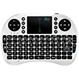 Rii Mini i8 2.4G Wireless Keyboard with Touchpad for PC Pad Google Android TV Box USB (White)