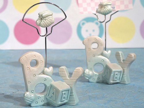 Blue Baby Boy Place Card Holders