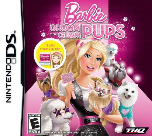 THQ Toys Barbie Groom and Glam Pups for Nintendo DS