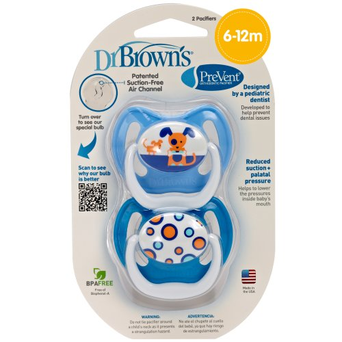 Dr. Brown'S Prevent Design Pacifier, Boys, Stage 2, 6-12 Months