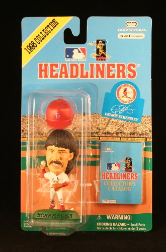DENNIS ECKERSLEY / ST. LOUIS CARDINALS * 3 INCH * 1998 MLB Headliners Baseball Collector Figure