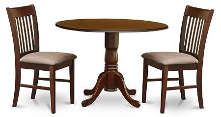 3-Pc Pedestal Dinning Set