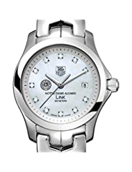 University of Notre Dame Alumni TAG Heuer Watch - Women's Link with Mother of Pearl
