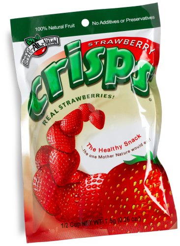 Brothers-ALL-Natural Strawberry Crisps, 0.26-Ounce  Bags(Pack of 24)