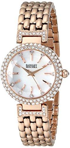 badgley-mischka-womens-ba-1344wmrg-swarovski-crystal-accented-rose-gold-tone-bracelet-watch