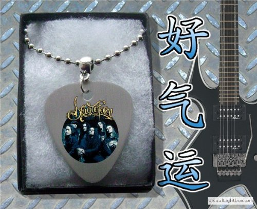DragonForce (Dragon Force) Metal Guitar Pick Necklace Boxed Music Festival Wear