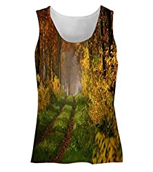 Snoogg Small Way In Forest Womens Tunic Casual Beach Fitness Vests Tank Tops Sleeveless T shirts