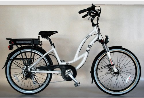 EG Maui EX Beach Cruiser Electric Bike - Glossy Metallic Arctic White