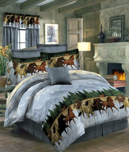 Unique Horses by the Water Bed in a Bag Set Full