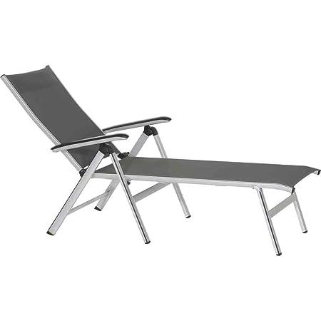 Mwh 359999 - Núcleo césped lieja plegable de aluminio con textileno, gris oscuro / gris / plata / negro