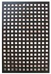 Acurio Square Black Vinyl Lattice Decorative Privacy Panel