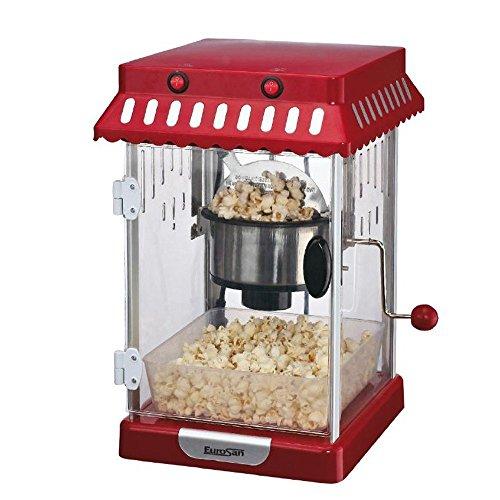 Eurosan PR machine à pop-corn, design vintage, rouge/blanc