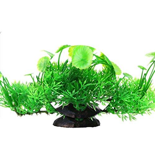 Plante artificiel herbe feuille de lotus ornement pour for Plante herbe haute