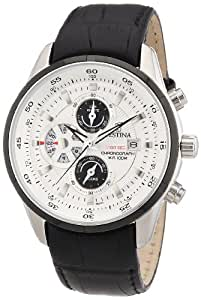 Festina Herren-Armbanduhr XL Analog Quarz Leder F6821/1