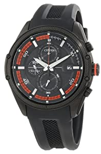 Citizen Men's CA0128-09E Drive from Citizen Eco-Drive Black Polyurethane Band and Stainless Steel Watch