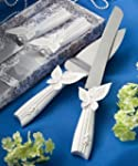 Butterfly design cake knife/server se...