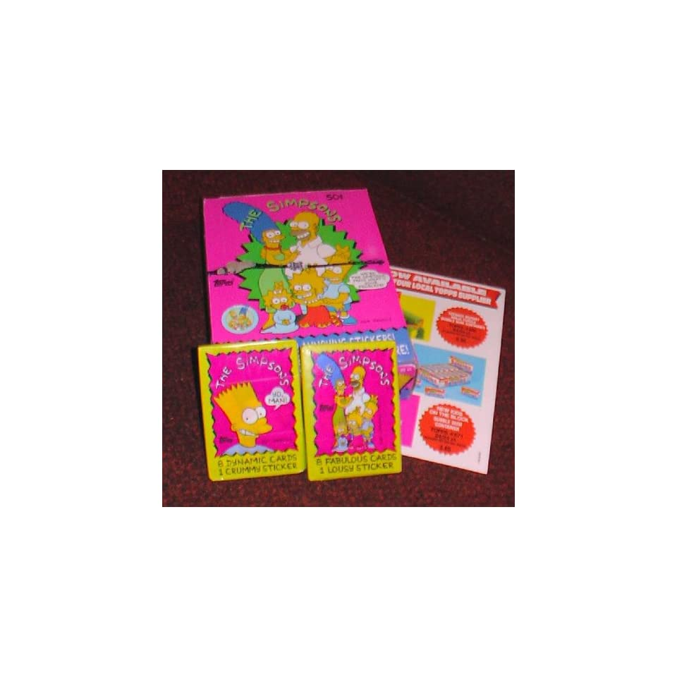 Simpsons Topps trading cards 36 pack box