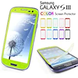 Mercury Color Screen Protector for Samsung Galaxy S3 GT-i9300 - Fits Verizon, AT and T, T-Mobile, Sprint - Lime Green