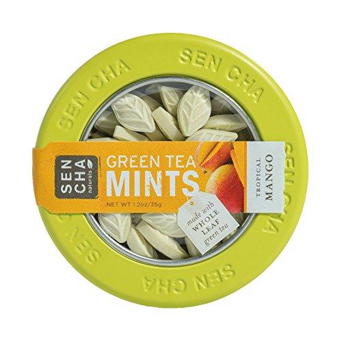 Sencha Naturals Green Tea Mints, Tropical Mango, 1.2-Ounce Canister