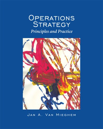Operations Strategy: Principles and Practice