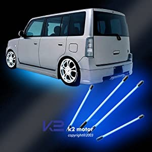 "Blue Neon Underbody Undercar Kit Lights 4pcs 36"" & 48"""