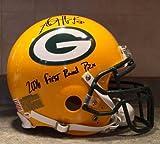 A.J. Hawk Autographed Helmet - Nick Barnett AJ Game Model Pro - PSA/DNA Certified - Autographed NFL Helmets