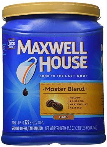 Maxwell House Master Blend Custom Roasted Full Flavor Cofe Container 44.5 Ounces (Maxwell House Master Blend compare prices)