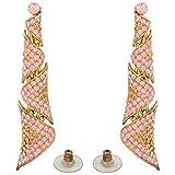 Tohfa Planet Pink Dangle And Drop Earrings For Women