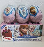 1 x Zaini Disney FROZEN chocolate egg treats with TOY- 3 per box-Made in ITALY-SHIPPING FROM USA