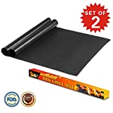 """Imarku BBQ Grill & Baking Mats, Durable , Heat Resistant, Non-Stick Grilling Accessories ,Works on Gas, Charcoal, Electric Grill and more- 15.75 x 13"""" - (Set of 2)"""