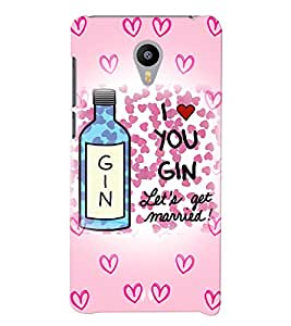 Printvisa Wine Lovers Quote Back Case Cover for vivo V3